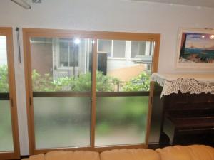 施工後  掃出窓 1