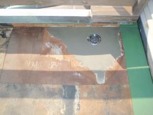 排水溝回り モリタル補修