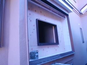 施工中(開口部分・窓)