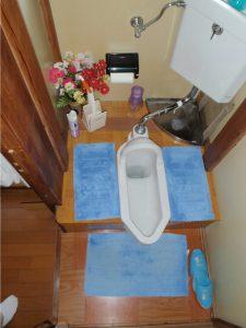 着工前 和式トイレ
